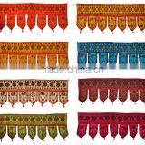 Indian Home Decorative Sequin Beaded Sitara Work Embroidered Window Valence Door Hanging Bandhanwar Toran