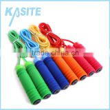 2.7M PP handle with single color foam,hot sale cotton jump rope