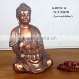 Tabletop decoration resin buddha with tea light holder