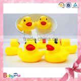2014 Hot Sale 8pcs/set Eco-friendly Yellow Floating Toy Rubber Ducks Custom Rubber Bath Duck