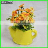 home& indoor decoration,new design special small yellow flower bonsai