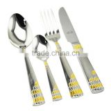 stainless steel cutlery sets QANA wholesale Eco-Friendly Feature metal type stainless steel cutlery sets