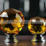 Clear Amber Crystal Glass Knob Crystal Cabinet Knobs                                                                         Quality Choice