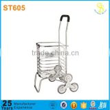 2014 new style metal mini folding shopping trolley cart, shopping cart for supermarket in Guangzhou