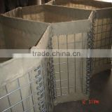Hesco wire mesh barrier (Welded panels + Geotextile)