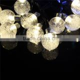 for outdoor christmas wedding party decoration solar and bettery led air bubbles ball fairy string light
