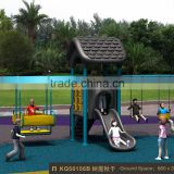 Kaiqi group Sportsplay Modern Metal Swing Set with hot Galvanized Steel Pipe and electrostatic painting