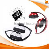 Foldable On-ear Wireless Stereo Bluetooth Headphones Supports MP3 FM & TF Card Reader