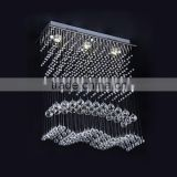 Modern Chandelier Rain Drop Lighting Crystal Ball Fixture Pendant Ceiling Lamp