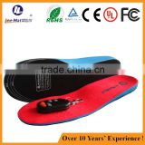 3 heating models comfortable velour fabric EVA materail heated insole for lower temperature