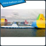 2016 Hot sale giant inflatable water park with slide, inflatable floating water park equipment for sale