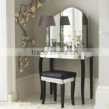 glass venetian mirrored dressing table,vanity table set,dresser and stool