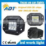 Hot sale 4 inch 3W Cr ee LED square style 18W LED driving lights for off-road jeep, truck, tractor 4WD