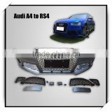Hot sale ! RS4 body kits fit for AD A4 to RS4 style 2012 year ~PP material front bumper wih grille