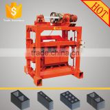 QTJ4-40 hollow brick making machine/high pressure brick machinery low cost/stationary brick machine price in india