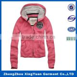 Factory price promotional ladies 100% Cotton brushed fleece embroidery soft wash vintage hoodie sweat shirt