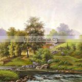 100% Handmade Natural Scenery Oil Painting On Canvas