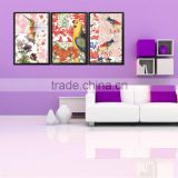 Animal Print Canvas Art Sets 3 Piece Stretched Framed Oil Wall Decor
