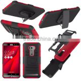 2015 New Arrival!Future Armor Impact Skin Holster Protector Combo Case for asus zenfone 2 laser ZE551KL