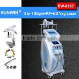 3in 1 2 touch screen 2016 CE approval high quality tattoo removal elight rf nd yag laser multifunction beauty machine