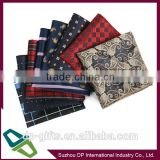 custom print silk pocket square for men