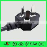 6-10A,250V CCC China 3 core extension wire flat 3 pin adaptor plug for domestic or industrial appliance