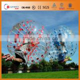 Funny sport colorful dots human inflatable bumper bubble ball
