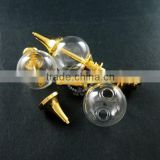 20mm glass ball in gold plated brass vial pendant DIY glass dome bottle charm supplies 1850196