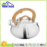 Capsulated Bottom non electric camping whistling tea pot tea kettle stainless steel kettle