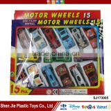 15pcs Die cast model car mini friction car toy for boys