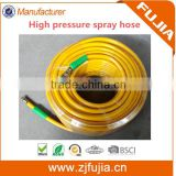 China manufacturer PVC fiber reinforced hose high pressure spray hose with brass fittings