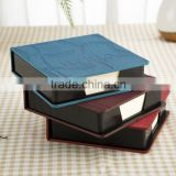 Professional manufacture cheap office school PU leather notebook with note pad calculator