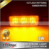 "3.5""LED strobe light flash emergency warning safety amber white led light for car automotive truck trailer offroad 4x4 vehicles"