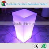 Remote control plastic vase lighte led for ourdoor