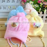 Baby Boy Girl Infant Toddler Cute Soft Crochet Bear Hat Beanie Warm Newborn Cap