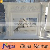 Simple design french artificial white marble fireplace NTMF-F831A