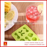 Cute butterfly and button shaped mini silicone ice cube tray