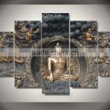 Buddha statue Painting metal craft buddha wall sculpture for home decor