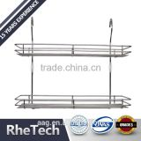 Hot Selling Metal Wire 2 Tier Bathroom Storage Rack Corner Shelf