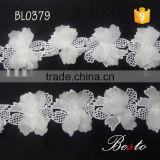 China wholesale indian flower lace trim for lady dress