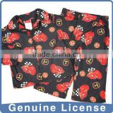 The car Printing fire prevention sleep wear baby boy sleeping wear