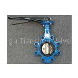 PN10 PN16 Lever operated Butterfly Valve , 6 Inch 8 Inch pneumatic actuator valves