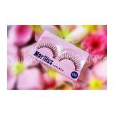 Handmade Red Cherry Glitter False Eyelashes Synthetic For Party