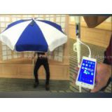 Solar Energy Product Sun Umbrella with Solar Panels Charger for iPhone etc. Bar Umbrella 01-00