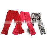 2016 yawoo multi color cotton ruffle pants wholesale boutique girls clothing icing baby leggings