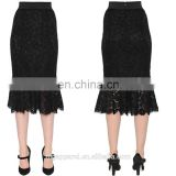 Custom Black Lace Pencil Skirts For Women