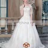 long train white dress sweetheart neckline with lace trim casual wedding dresses bridal gown