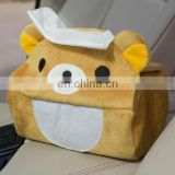custom cute cartoon plush bear tissue box