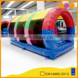 AOQI small archy inflatable obstacle course round inflatable indoor combo obstacle course with free EN14960 certificate