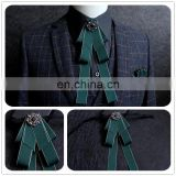 Aidocrystal New Fashion Accessories Necktie High Quality Green Men's ties for suit business wedding Casual Black Red Bow Tie